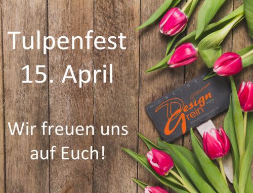 Design vom Grein beim Tulpenfest in Edelsbach