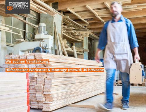 Hilfsarbeiter Werkstatt & Montage gesucht